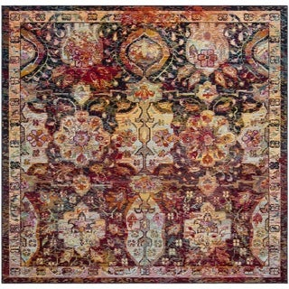 Safavieh Crystal Vintage Bohemian Navy/ Orange Rug (7' Square)