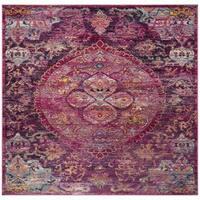 Safavieh Crystal Vintage Bohemian Fuchsia/ Purple Rug - 7' Square