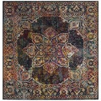 Safavieh Crystal Vintage Bohemian Navy/ Light Blue Rug - 7' Square