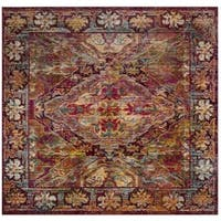 Safavieh Crystal Vintage Bohemian Fuchsia/ Light Blue Rug - 7' Square