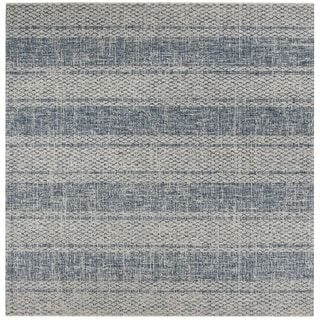 Safavieh Courtyard Light Grey/ Blue Rug (6'7 Square)