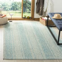 Safavieh Courtyard Light Grey/ Aqua Rug - 6'7 Square
