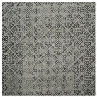 Safavieh Handmade Dip Dye Grey Wool Rug (7' Square)