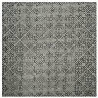 Safavieh Handmade Dip Dye Grey Wool Rug - 7' Square