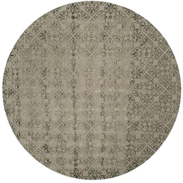 Safavieh Handmade Dip Dye Dark Beige Wool Rug (7' Round)