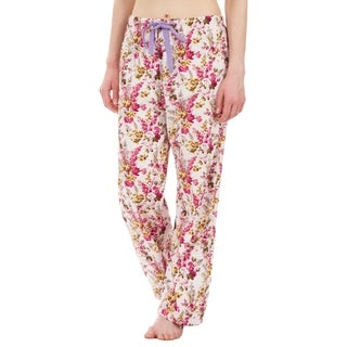 Leisureland Floral Cotton Poplin Pajama Lounge Pants