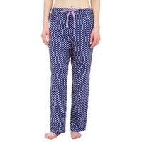 Leisureland Polka Dot Cotton Poplin Pajama Lounge Pants Blue