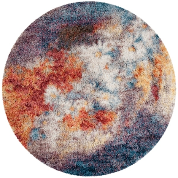 Safavieh Gypsy Rust/ Ivory Polyester Rug - 6'7 Round