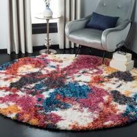 Safavieh Gypsy Ivory/ Blue Polyester Rug - 6'7 Round