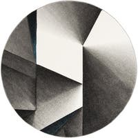 Safavieh Hollywood Grey/ Teal Rug - 6'7 Round