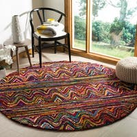 Safavieh Handmade Nantucket Bohemian Multi Cotton Rug - 6' Round