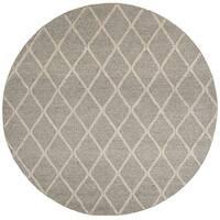 Safavieh Hand-Woven Natura Grey Wool Rug - 6' Round