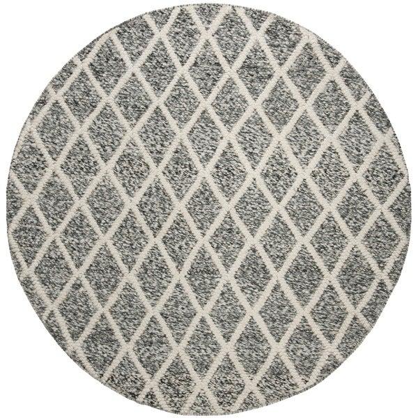Safavieh Hand-Woven Natura Ivory/ Black Wool Rug (6' Round)