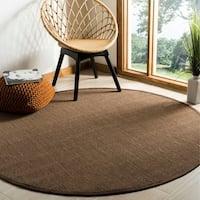 Safavieh Natural Fiber Brown/ Brown Sisal Rug - 6' x 6' Round