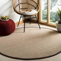 Safavieh Natural Fiber Sage/ Brown Sisal Rug - 6' x 6' Round