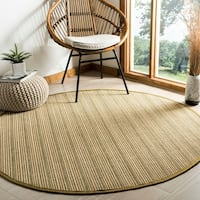 Safavieh Natural Fiber Multi/ Green Sisal Rug - 6' Round