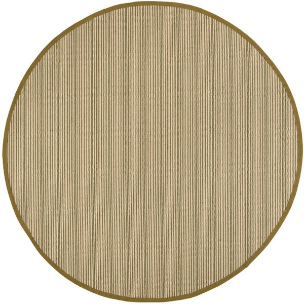 Safavieh Natural Fiber Multi/ Green Sisal Rug - 6' Round