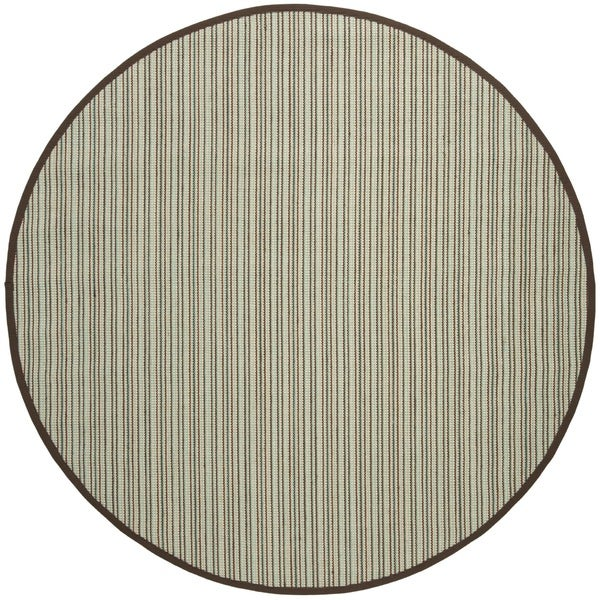 Safavieh Natural Fiber Teal/ Brown Sisal Rug - 6' Round