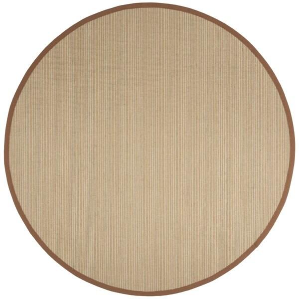 Safavieh Natural Fiber Multi/ Light Brown Sisal Rug - 6' Round