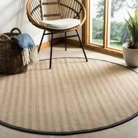 Safavieh Natural Fiber Natural/ Grey Sisal Rug - 6' x 6' Round