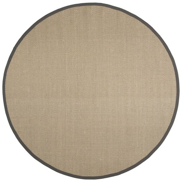 Safavieh Natural Fiber Natural/ Grey Sisal Rug (6' Round)
