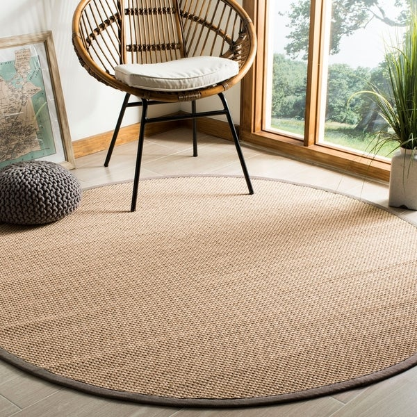 Safavieh Natural Fiber Maize/ Grey Sisal Rug - 6' Round