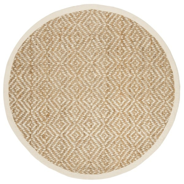 Safavieh Hand-Woven Natural Fiber Ivory/ Natural Jute Rug (6' Round)
