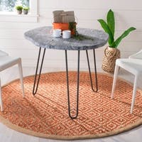 Safavieh Hand-Woven Natural Fiber Orange/ Natural Jute Rug - 6' Round