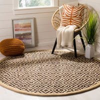 Safavieh Hand-Woven Natural Fiber Brown/ Natural Jute Rug (6' Round)