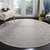 Safavieh Reflection Light Grey/ Cream Polyester Rug - 6'7 Round