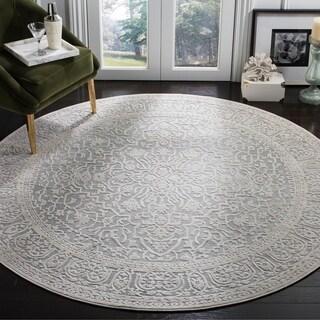 Safavieh Reflection Light Grey/ Cream Polyester Rug (6'7 Round)