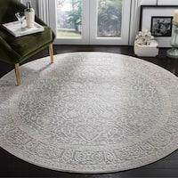 Safavieh Reflection Light Grey/ Cream Polyester Rug - 6'7 Round