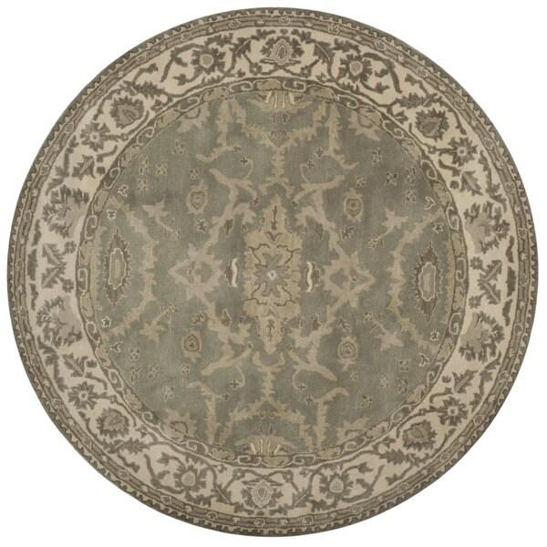 Safavieh Handmade Royalty Grey/ Cream Wool Rug - 7' Round