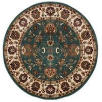 Safavieh Summit Teal/ Ivory Rug - 6'7 Round