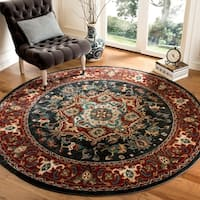 "Safavieh Summit Dark Grey/ Red Rug - 6'7"" x 6'7"" round"