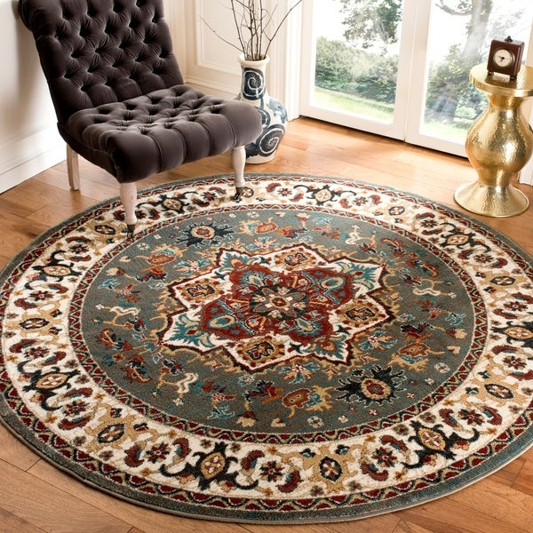 "Safavieh Summit Grey/ Ivory Rug - 6'7"" x 6'7"" round"
