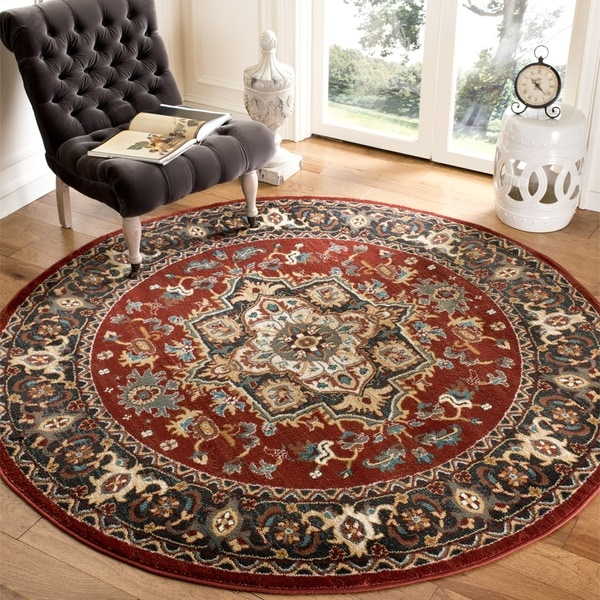 Safavieh Summit Red/ Dark Grey Rug (6'7 Round)
