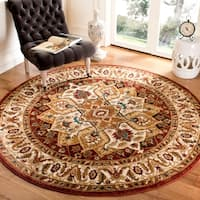 "Safavieh Summit Red/ Ivory Rug - 6'-7"" X 6'-7"" Round"