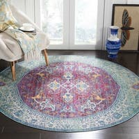 Safavieh Sutton Boho Medallion Purple/ Turquoise Rug - 6' Round