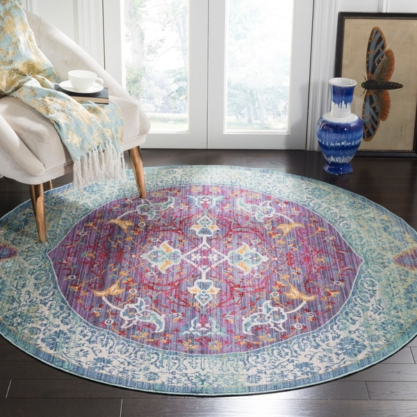 Purple Turquoise Rag Rug: Shop Safavieh Sutton Boho Medallion Purple/ Turquoise Rug