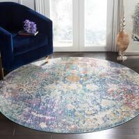 Safavieh Sutton Vintage Bohemian Turquoise/ Lavender Polyester Rug - 6' Round