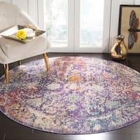 Safavieh Sutton Vintage Bohemian Lavender/ Ivory Polyester Rug - 6' Round