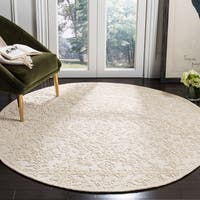 Safavieh Handmade Trace Ivory Wool Rug (6' Round)