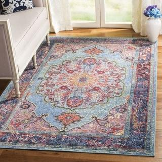 Safavieh Harmony Vintage Bohemian Blue/ Purple Rug (7' Square)
