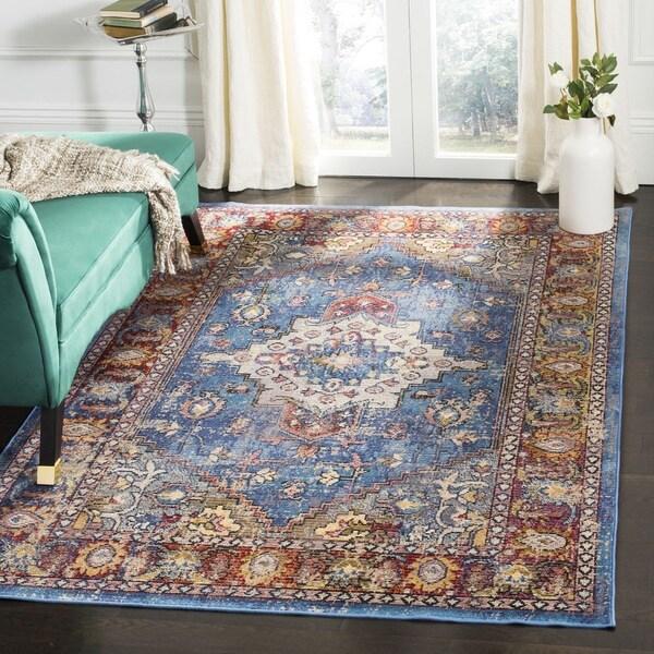 Safavieh Harmony Vintage Bohemian Blue/ Rose Rug - 7' Square