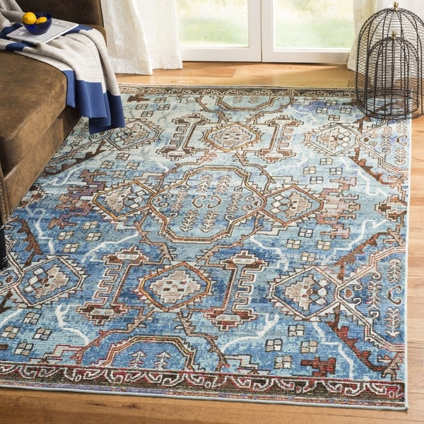 Safavieh Harmony Vintage Bohemian Blue/ Light Blue Rug - 7' Square