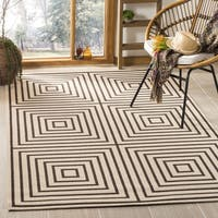 "Safavieh Linden Natural/ Brown Rug - 6'7"" x 6'7"" square"