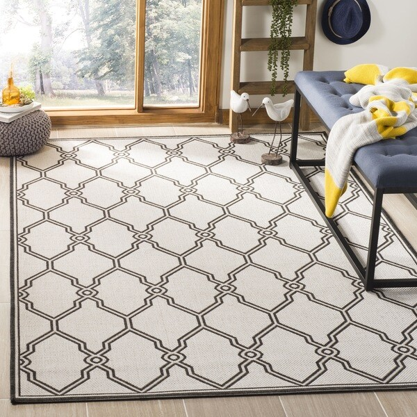 Safavieh Linden Light Grey/ Charcoal Rug - 6'7 Square
