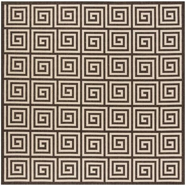 "Safavieh Linden Natural/ Brown Rug - 6'7"" x 6'7"" square"