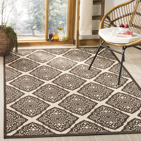 Safavieh Linden Natural/ Brown Rug - 6'7 Square